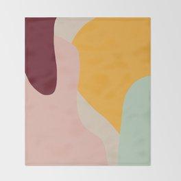 Ziz Abstract Painting Throw Blanket