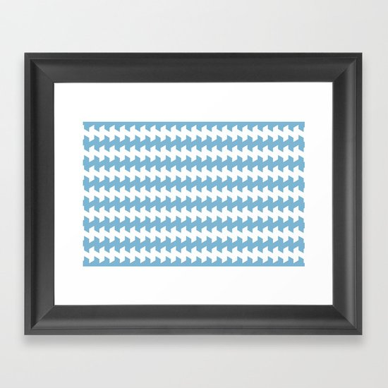 jaggered and staggered in dusk blue Framed Art Print