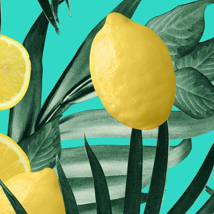 Summer Lemon Twist Jungle #1 #tropical #decor #art #society6 Leggings