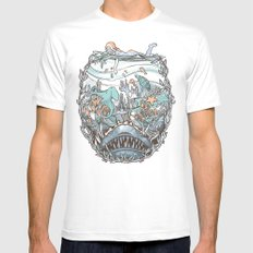What Lurks Beneath Mens Fitted Tee MEDIUM White