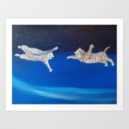 """Space kitties"" Art Print"