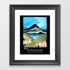 Tama Lakes Magic Framed Art Print