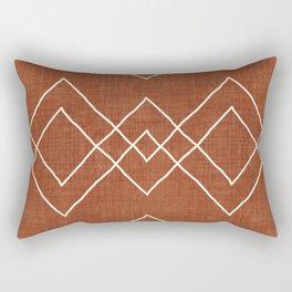 Nudo in Rust Rectangular Pillow