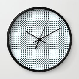 Fish flakes in rows Wall Clock