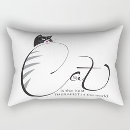 Cat is the best THERAPIST in the world Rectangular Pillow