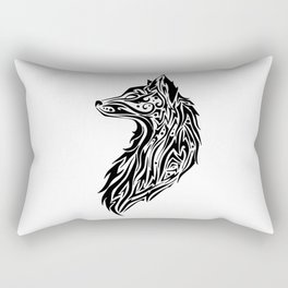 Tribal Fox Rectangular Pillow
