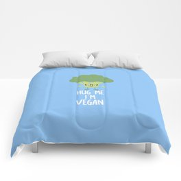 Vegan Broccoli Nerd T-Shirt for all Ages D545s Comforters