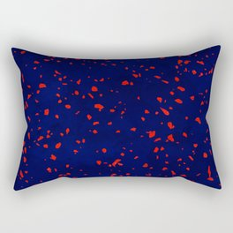Terrazzo memphis blue galaxy orange Rectangular Pillow