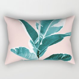 Ficus Elastica Finesse #2 #tropical #foliage #decor #art #society6 Rectangular Pillow