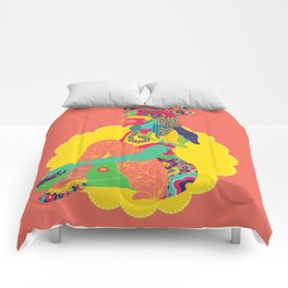 Rooster Woman Comforters