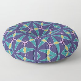Pompei floral at night pattern Floor Pillow