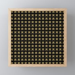 Replica of Pre-Columbian Pectoral Pattern in Gold Leaf on Black Framed Mini Art Print