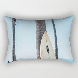 Surfboard By The Ocean Rectangular Pillow