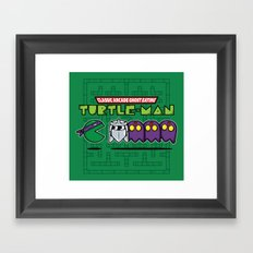 Hero in a Pac-Shell (Donnie) Framed Art Print