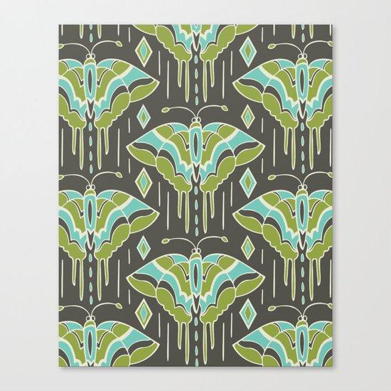 La maison des papillons Canvas Print