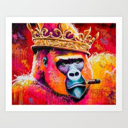 KING---GORILLA Art Print