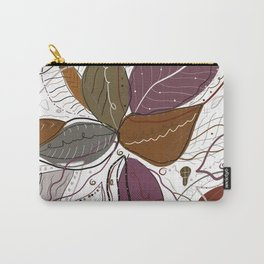 Active Wear Abstract Leaves Pattern Carry-All Pouch