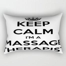 Keep Calm I Am A Massage Therapist Rectangular Pillow