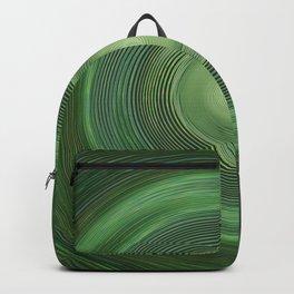 Green swirl Backpack