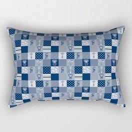 Jungle Friends Shades of Blue Cheater Quilt Rectangular Pillow