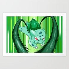 Grass Pocket Monster - 001 Art Print
