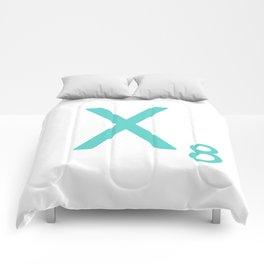 Letter X Blue Scrabble Art Comforters