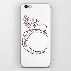 Owl sing for the moon iPhone & iPod Skin