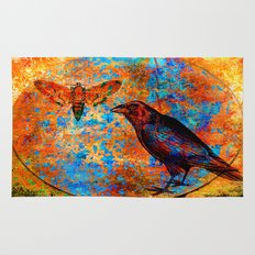 the crow and the butterfly Rug
