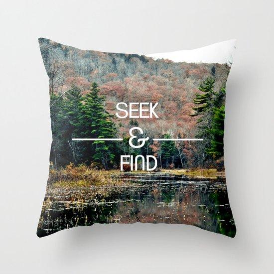 Seek & Find  Throw Pillow
