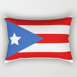 flag puerto rico Rectangular Pillow