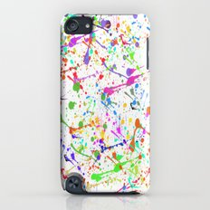 Paint Splatter 2 - White iPod touch Slim Case