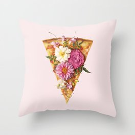 FLORAL PIZZA Throw Pillow