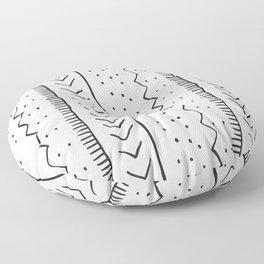 Moroccan Stripe in Cream and Black Floor Pillow