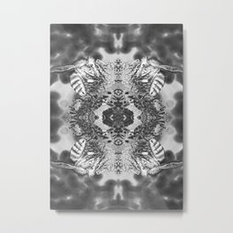 bees black and white Metal Print