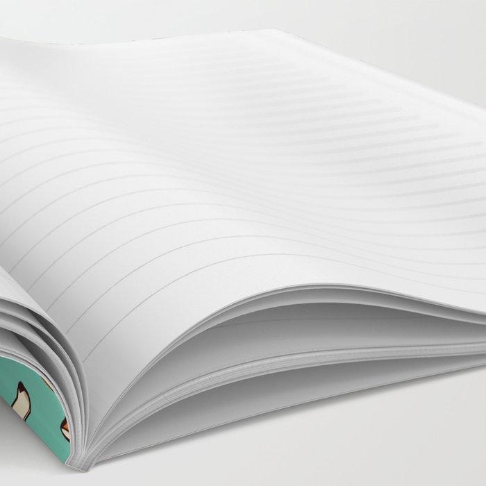 Jolly corgis in green Notebook