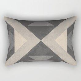 Geometric trinagles abstract pattern Rectangular Pillow