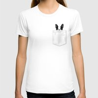 T-shirts featuring Pocket Boston Terrier by Anne Was Here