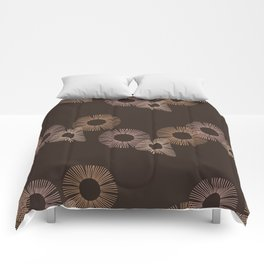 Brown Circle of Life Comforters