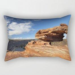 Nature's Window natural rock arch in Kalbarri NP, Western Australia Rectangular Pillow