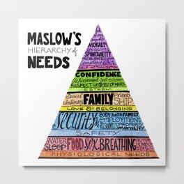 Maslow's Hierarchy of Needs II Metal Print