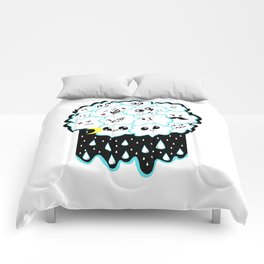 Cloudy and Rainy Nights Comforters