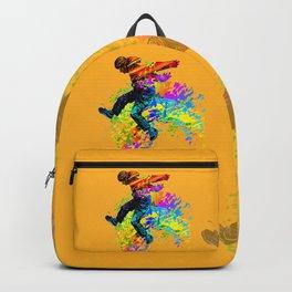Hip hop dancer, teenager jumping, dancing Backpack
