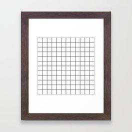 Grid Simple Line White Minimalist Framed Art Print