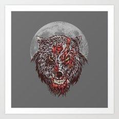 Zombie Wolf Art Print