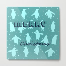 Merry Christmas from the penguins II Metal Print