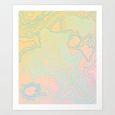 Topographic Art Print