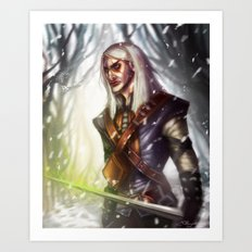 Geralt of Rivia Art Print