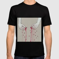 song for pomegranates Mens Fitted Tee Black MEDIUM