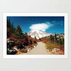 Mt Rainier in Autumn Art Print