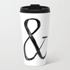 Ampersand watercolor Travel Mug